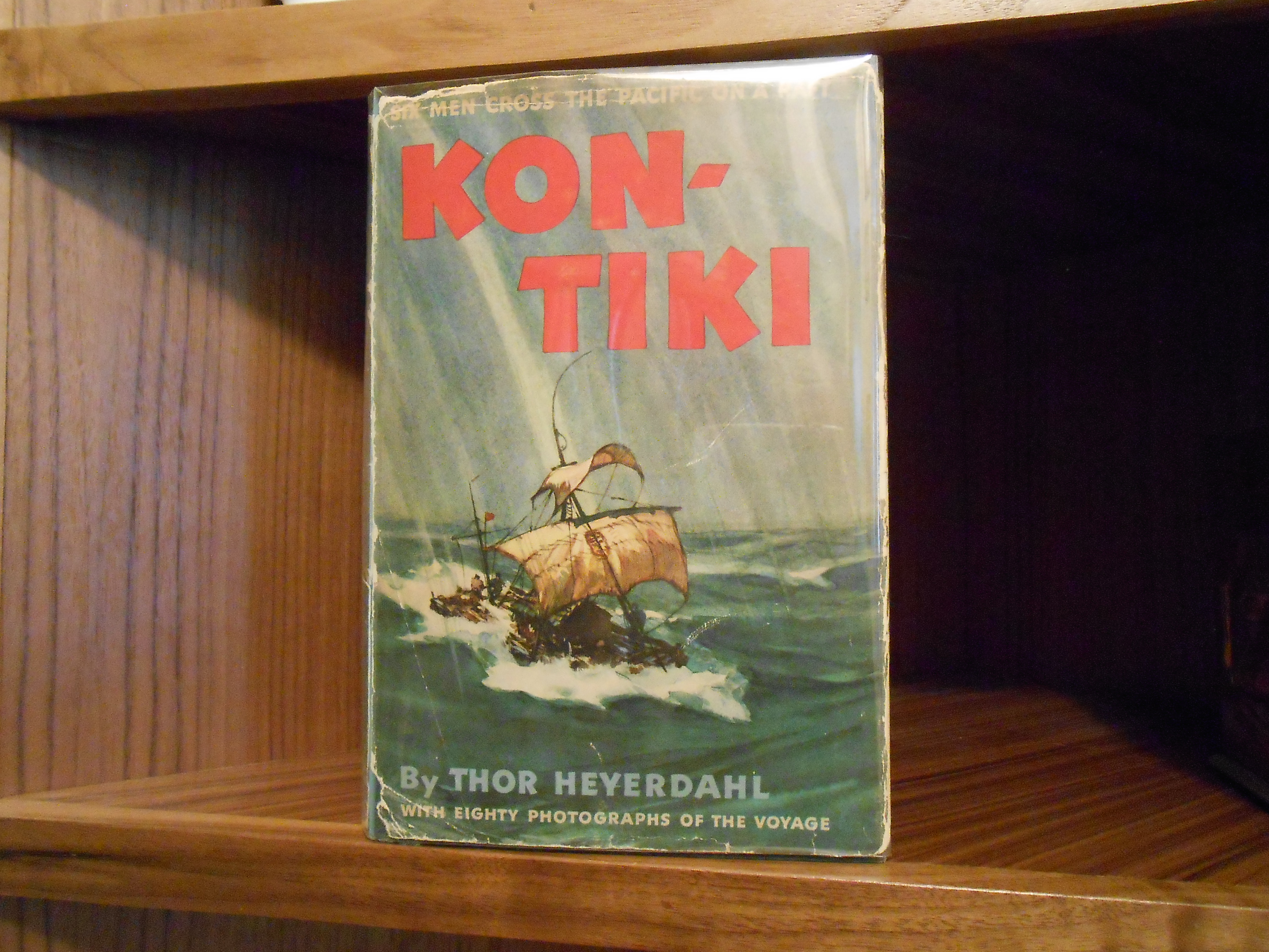 an analysis of the book kon tiki by thor heyerdahl Take a trip and find the truth in nature six scandinavians take a raft (not a boat) from peru to polynesia listen to their story this is an awesome book f.